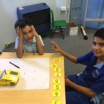 """Why is this not working!?"" - Dylan and Qais worked together and solved the problem in no time."